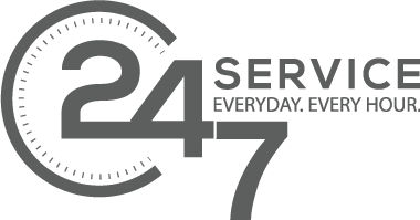 24/7 Service, Everyday. Every Hour.